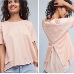 NWT Anthropologie Chiffon-Hemmed Tee by Eri + Ali